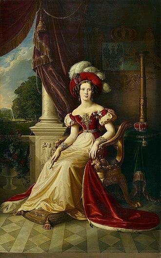 Princess Marianne of the Netherlands - Image: Karl Wilhelm Wach (toegeschreven) Prinses Marianne van Nederland, 1832 (Amsterdam Museum)