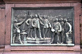 Proclamation of the German Empire - Proclamation of the Emperor in Versailles (Relief on the base of the Kaiser Wilhelm monument from 1897 in Karlsruhe