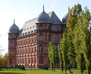 Hochschule für Musik Karlsruhe - Schloss Gottesaue, the main building of the Hochschule