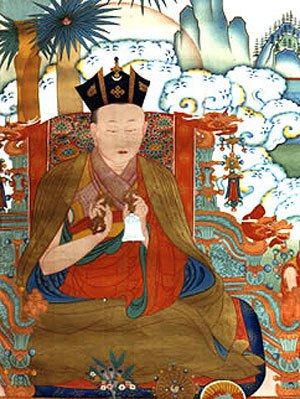 Black Crown - Deshin Shekpa, wearing the Black Crown