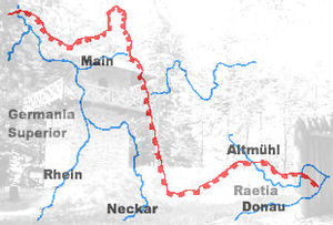 Imperial Limes Commission - Route of the Upper Germanic-Rhaetian Limes
