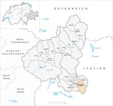 Il territorio del comune di Santa Maria Val Müstair prima degli accorpamenti comunali del 2009