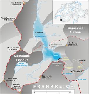 Lac dÉmosson reservoir