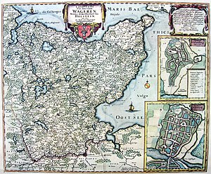 Wagria - Historic map of Wagria (ca. 1682-88)