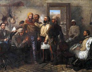 "Louis William Desanges - ""Thomas Henry Kavanagh being disguised as a sepoy during the Siege of Lucknow."""