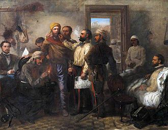 """Louis William Desanges - """"Thomas Henry Kavanagh being disguised as a sepoy during the Siege of Lucknow."""""""
