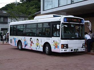 Doraemon - Shuttle bus featuring Doraemon to Fujiko F. Fujio Museum in Kawasaki