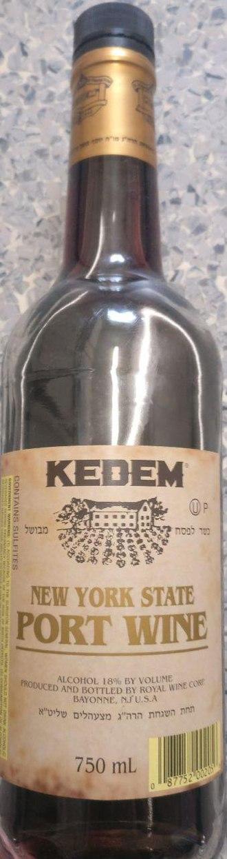 New York wine - A bottle of Kosher New York Port wine (bottled in New Jersey)