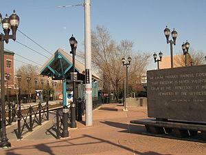 Jackson Hill, Jersey City - MLK Drive HBLR station