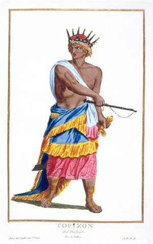 Dadra and Nagar Haveli - King Tofizon of Dadra, 1780 (coloured engraving)