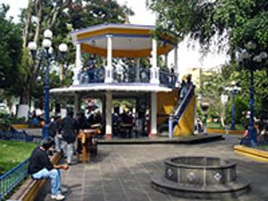 Coatepec, Veracruz - A street in Coatapec beside the City Hall