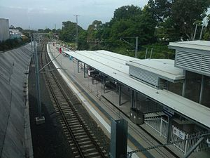 Rail Clearways Program - Kirrawee additional platform built as part of Cronulla line duplication completed in April 2010