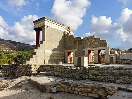 Palace of Knossos Knossos Westbastion 05.jpg