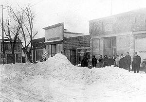 Knox, Indiana - East Lake Street, January 1910