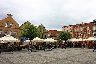Kościerzyna Place in Pomeranian Voivodeship, Poland