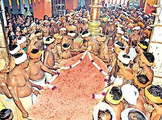 Pathi - The flag hoisting ceremony in Swamithope pathi on 8/19/2006.