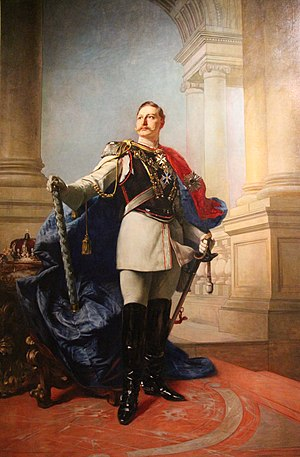 Wilhelminism - Kaiser Wilhelm II., Neo-Baroque painting by Max Koner for the German embassy, Hôtel Beauharnais, Paris (1891)