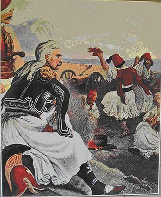 Battle of Dervenakia - Image: Kolokotronis und seine Soldaten