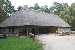 Kolu tavern in its new location at the Estonian Open Air Museum, Tallinn.