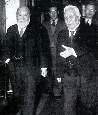 February 26 Incident - Takahashi Korekiyo (left) and Saitō Makoto (right) on February 20, 1936