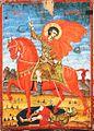 Kostandin Shpataraku, S. Demetrio a cavallo, 43x31 cm, Berat, Museo Onufri, XVIII sec..jpg