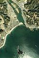 Koza-gawa river estuary Aerial photograph.1975.jpg