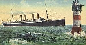 Action of 18 June 1918 - A postcard of USS Von Steuben.