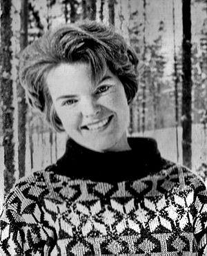 Ksenia Kepping - Ksenia Kepping on a ski trip north of Leningrad, winter 1965