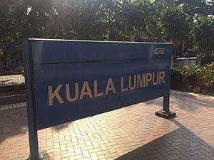 Kuala Lumpur railway station - Kuala Lumpur - stationboard