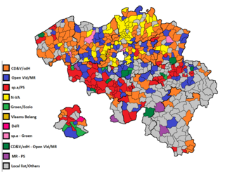 2018 Belgian local elections elections of the Belgian provincial, municipal and district councils