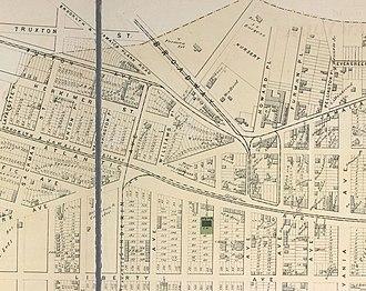 East New York station - East New York Station in 1873