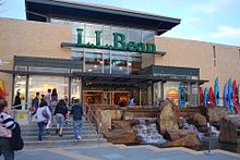 Former L.L.Bean store at The Mall in Columbia, in Columbia, Maryland, circa 2009