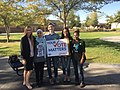 LWVC Staff and volunteers registering students to vote at COHS on NVRD (31165763978).jpg