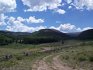 La Garita Wilderness - View of the La Garita Wilderness area from the parking lot at the terminus of Forest Road 787