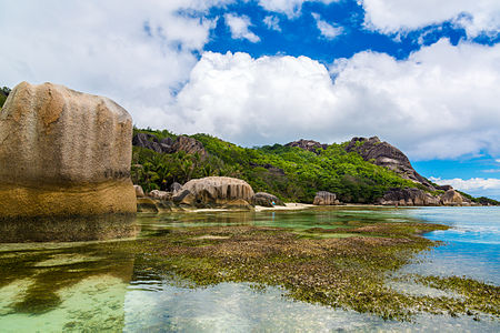 La Digue coastal scenery