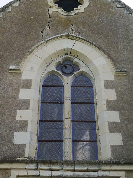 Le vitrail de la façade.