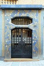 Porte d'entrée de la maison bleue à Angers