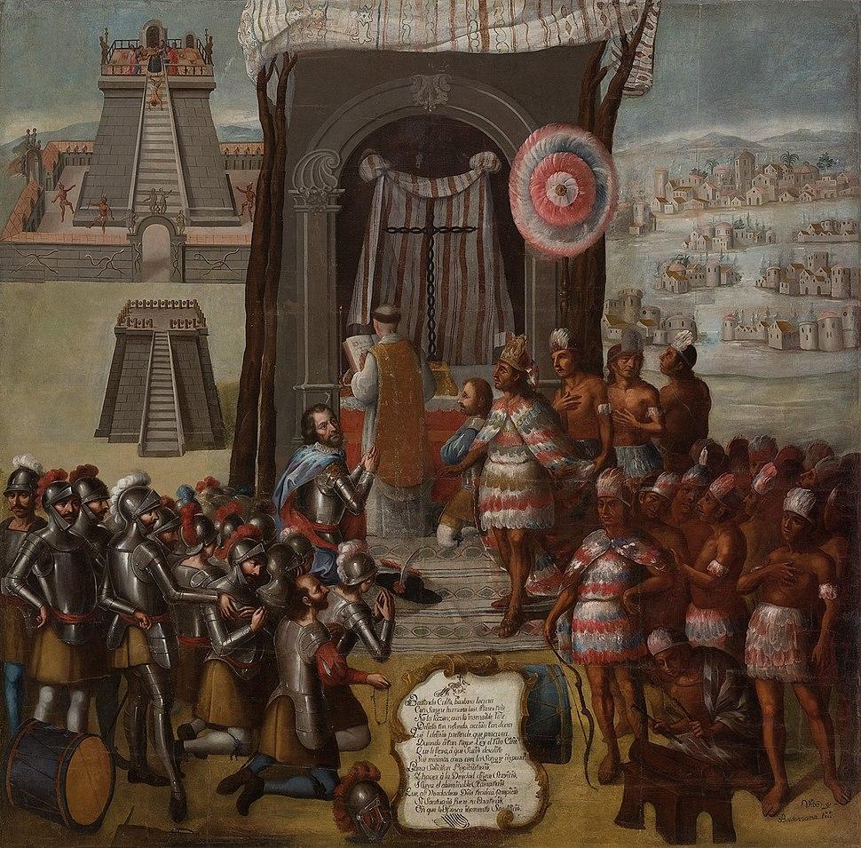 La consagración de los templos paganos y la primera misa en México-Tenochtitlan