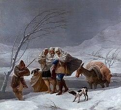 Francisco de Goya: La Neige