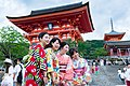 Ladies in Kimono in Kiyomizu-dera temple, Kyoto, Japan; June 2015.jpg