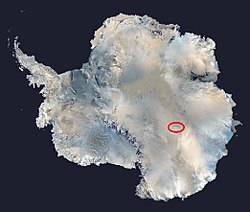 Lake Vostok composite image (NASA)