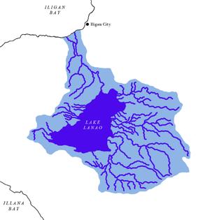 Lake Lanao - Lake Lanao-Agus River watershed map