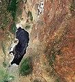 Lake Natron and Gelai Volcano (Tanzania), Lake Magadi (Kenya) from space.jpg