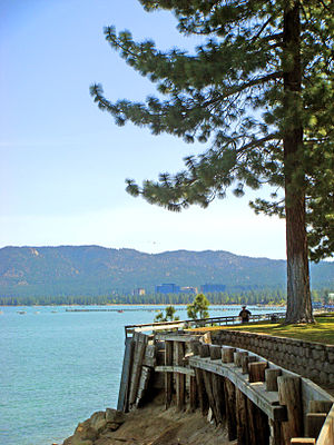 South Lake Tahoe, California - Beach front walkway South Lake Tahoe, Memorial Day weekend 2007