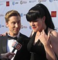 Lance Bass and Pauley Perrette (14134623716).jpg