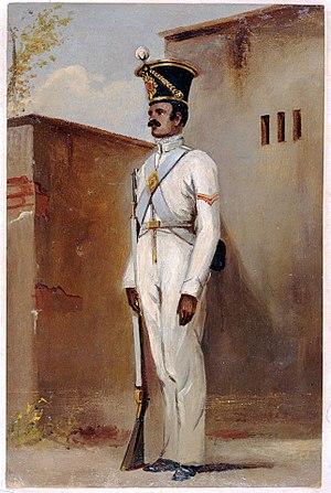 Lance naik - Lance naik, 66th Bengal Native Infantry (Volunteers), 1842 by Alex Hunter