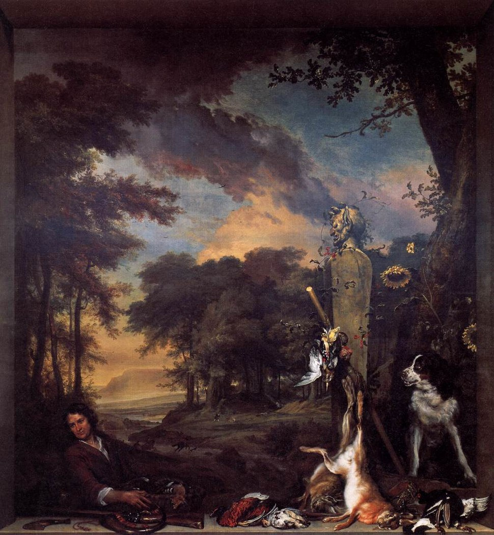 Landscape with Huntsman and Dead Game 1697 Jan Weenix