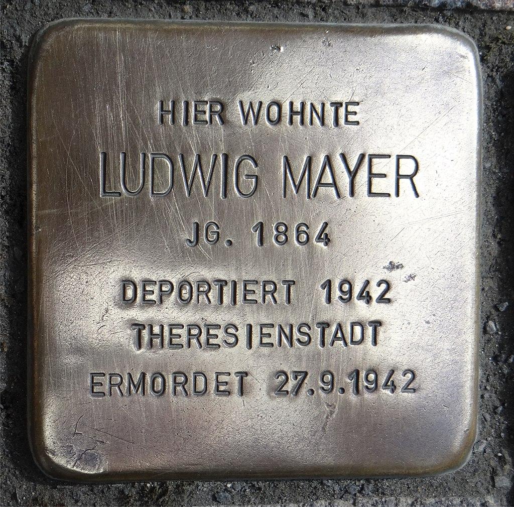 Langenlonsheim Stolperstein Naheweinstraße 132 Ludwig Mayer.jpg
