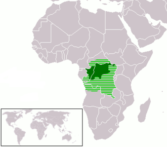 Lingala - Image: Language Map Lingala Larger Location
