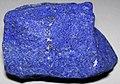 Lapis lazuli (lazuritic metamorphite) (Sar-e-Sang Deposit, Sakhi Formation, Precambrian, 2.4-2.7 Ga (?); Sar-e-Sang Mining District, Hindu-Kush Mountains, Afghanistan) 4 (33761908008).jpg